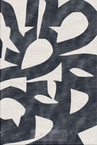 contemporary mid century rug design by rug art international. black and ivory