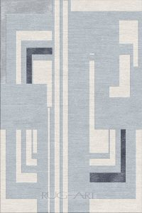 hand knotted rug design. rug art.