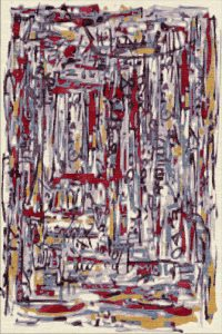hand knotted modern abstract rug design. graffito. modern art